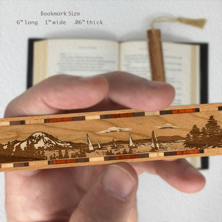 Sailing - Engraved Wooden Bookmark with Tassel