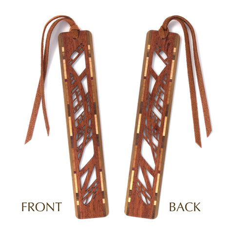 Arches Design Laser Cut Wooden Bookmark with Tassel