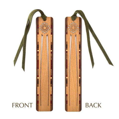 Swallow Tail Design Laser Cut Engraved Wooden Bookmark with Tassel