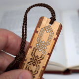 Celtic Knot Design Cut out- Engraved Wooden Bookmark with Tassel