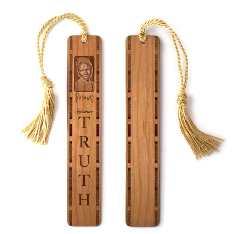 Sojourner Truth Engraved Wooden Bookmark with Tassel