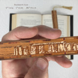 Stonehenge Laser Engraved Wooden Bookmark with Tassel