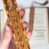 Engraved Wooden Bookmark - Author - Thomas Hardy with Tassel
