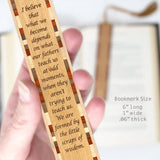Father Teachings Quote by Novelist Umberto Eco - Wooden Bookmark with Tassel