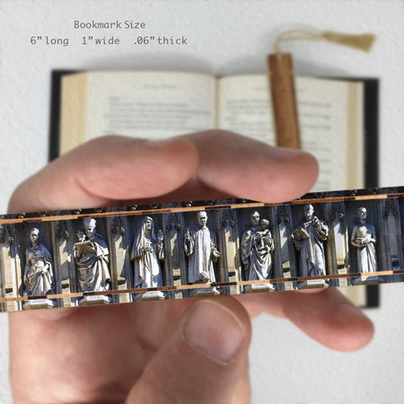 Statues of Martyrs at Westminster Abbey on Handmade Wooden Bookmark with Tassel