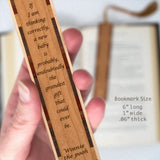 Winnie The Pooh Quote New Baby Is The Grandest Engraved Wooden Bookmark with Tassel