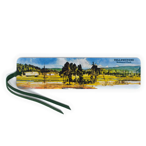 Yellowstone National Park Large Wooden Bookmark with Suede Tassel