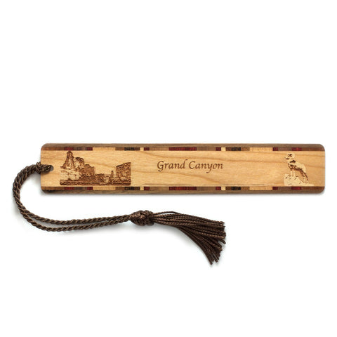Grand Canyon National Park Wooden Bookmark With Laser Engraving and Tassel