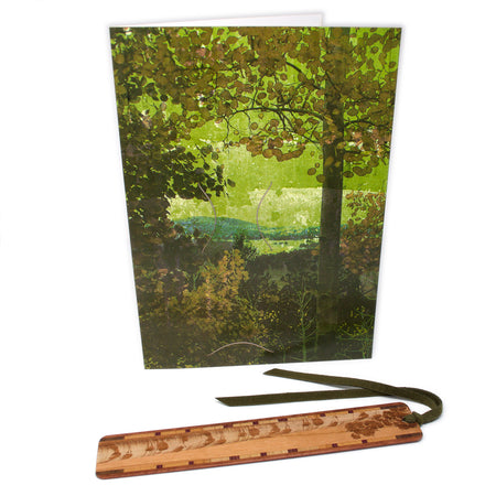 Bookmark Greeting Card - Combined card and gift bookmark - Aspen Tree