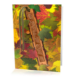 Bookmark Greeting Card - Combined card and gift bookmark - Autumn1