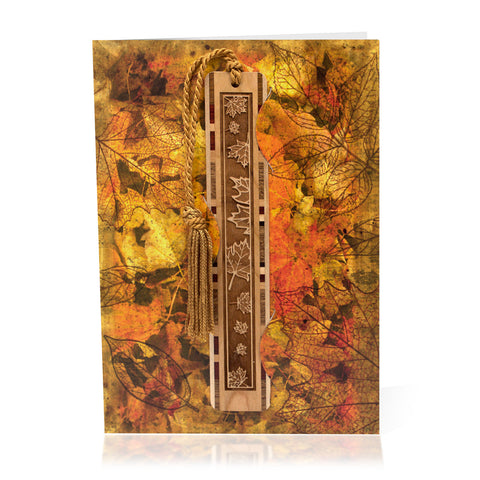 Bookmark Greeting Card - Combined card and gift bookmark - Autumn 2