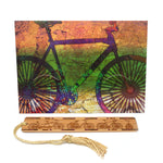 Bookmark Greeting Card - Combined card and gift bookmark - Bike