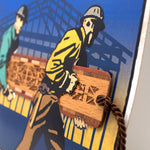 Bookmark Greeting Card - Combined card and gift bookmark - Construction Workers