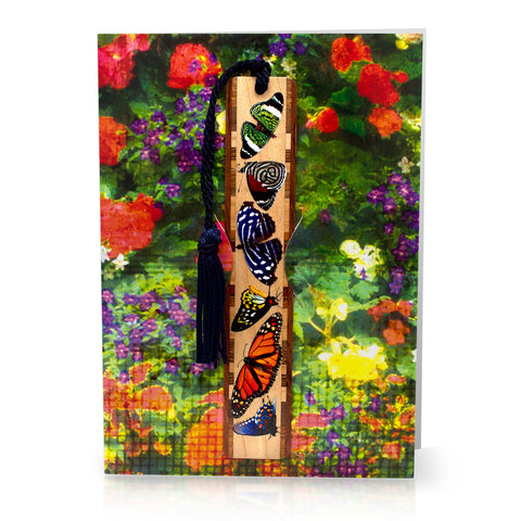 Bookmark Greeting Card - Combined card and gift bookmark - Floral 2