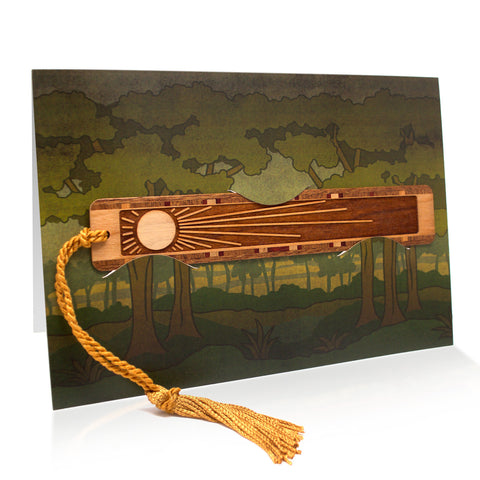 Bookmark Greeting Card - Combined card and gift bookmark - Forest