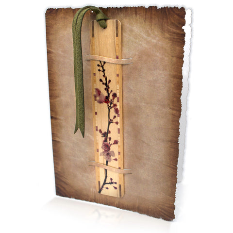 Bookmark Greeting Card - Combined card and gift bookmark - Parchment