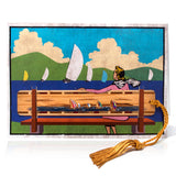 Bookmark Greeting Card - Combined card and gift bookmark - Regatta