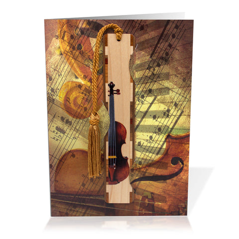 Bookmark Greeting Card - Combined card and gift bookmark - Symphony