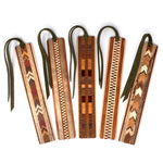 Solid Laminated Inlay Pattern Wood Bookmark set 605