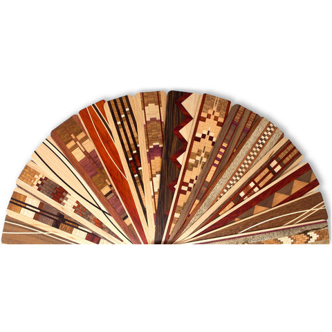 Surprise Assortment of Solid Inlay Design Wood Bookmarks - Select Quantity