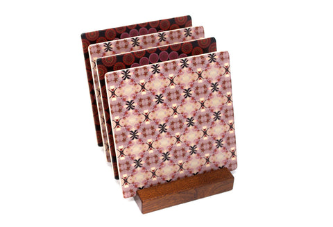 Adapted From Detail Photography of Cherry Blossoms by Mitercraft - set of 4 or 6 wood coasters with optional holders - set #21
