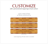 Friendship Quote Engraved Wooden Bookmark with Suede Tassel