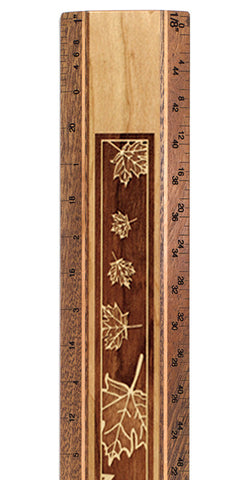"Maple Leaves R326 12"" Solid Wood Architectural Ruler"
