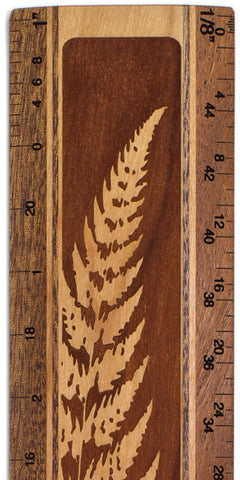 "Fern R327 12"" Solid Wood Architectural Ruler"