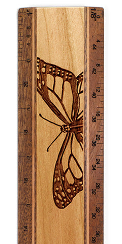 "Butterflies R330 12"" Solid Wood Architectural Ruler"