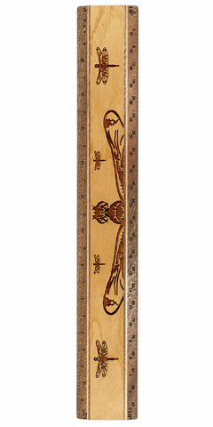 "Dragonflies R331 12"" Solid Wood Architectural Ruler"