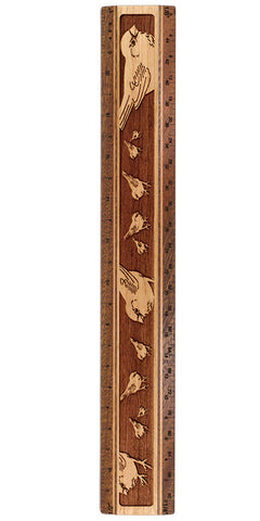 "Chickadees R332 12"" Solid Wood Architectural Ruler"