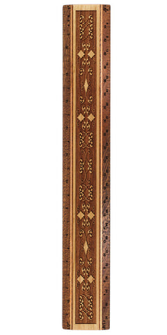 "Curly Cue Design R335 12"" Solid Wood Architectural Ruler"