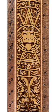 "Aztec Calendar R340 12"" Solid Wood Architectural Ruler"