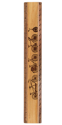 "Bikes R342 12"" Solid Wood Architectural Ruler"