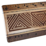 "Maze Design R338 12"" Solid Wood Architectural Ruler"