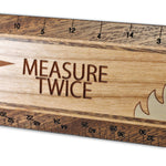 "Measure Twice R344 12"" Solid Wood Architectural Ruler"