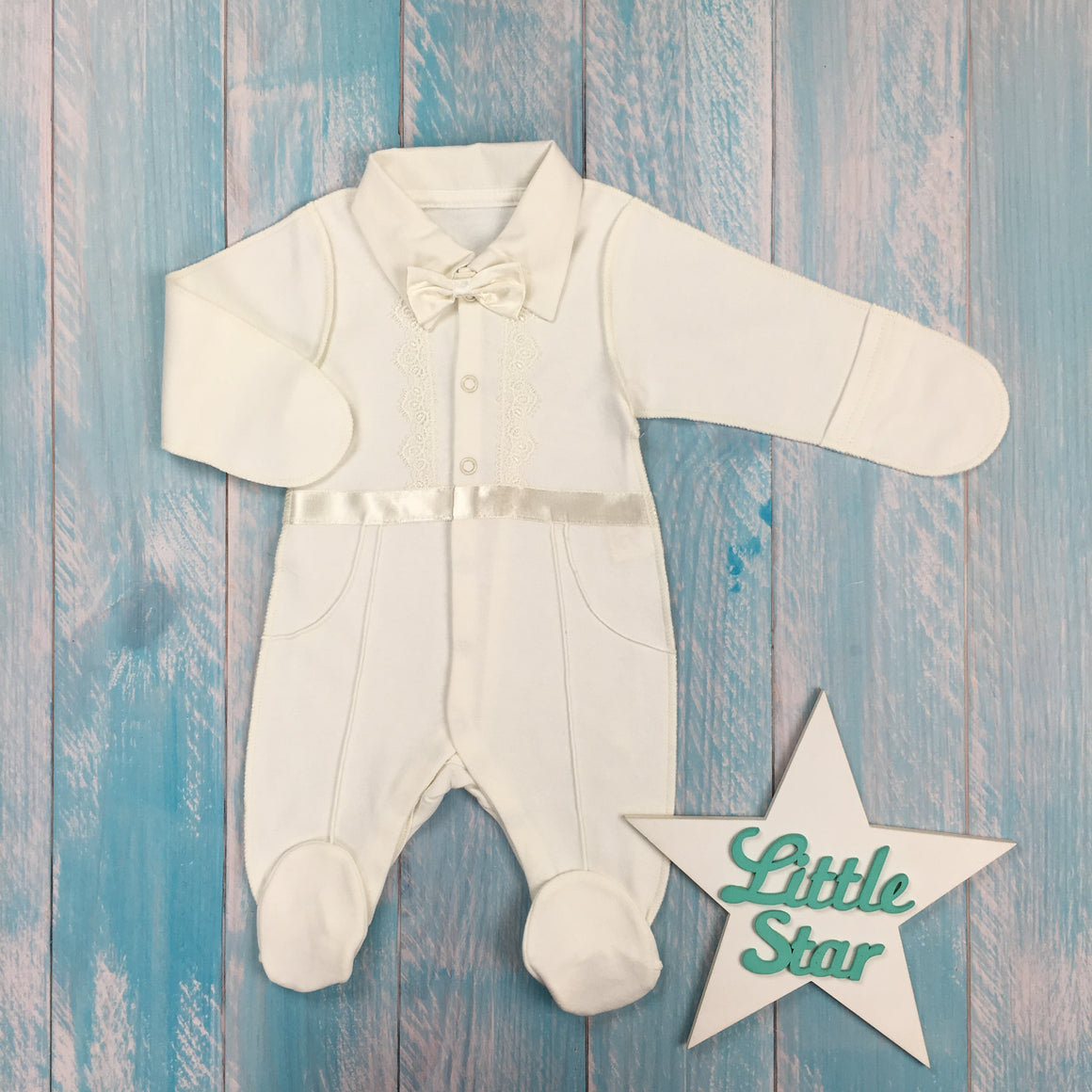 "Inside-out jumpsuit with a bow tie ""Gentleman"""