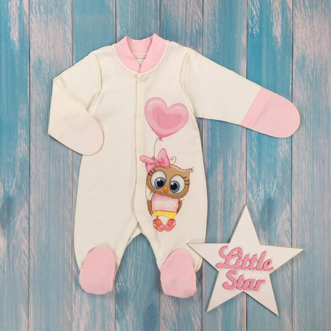 "Inside-out jumpsuit ""Baby Owl"""