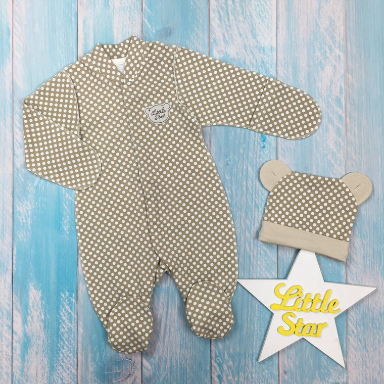 "Inside-out set ""Teddy Bear"": jumpsuit and hat"