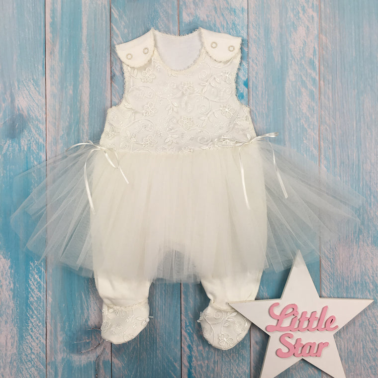 "Inside-out jumpsuit with short sleeves for a girl ""Ballerina"""