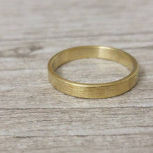 Mens wedding band, brushed gold wedding band, mens wedding ring, 14k Wedding band for men, Gold texured wedding ring, wedding band for him