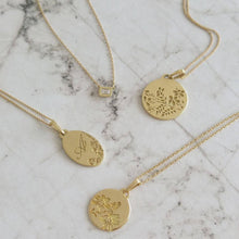 Gold Initial necklace, gold engraved necklace, Personalized rose gold Necklace, Monogram disc necklace, unique initial pendant