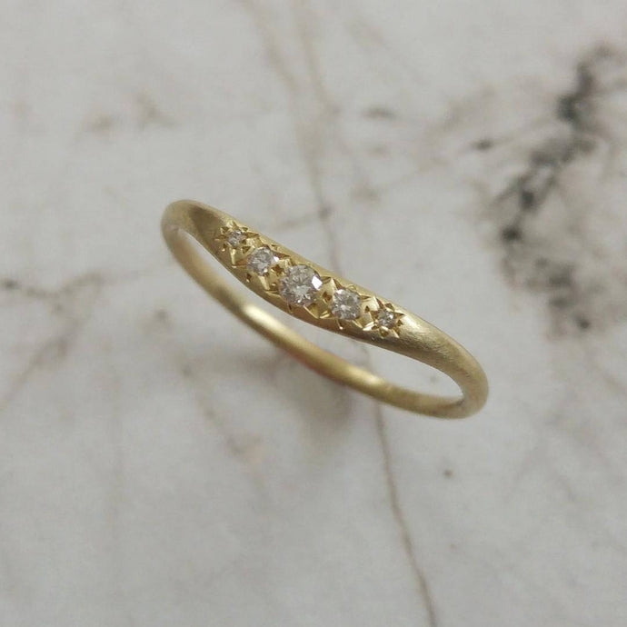 Vintage style diamond ring, unique diamond wedding ring, 14k gold and diamonds wedding band