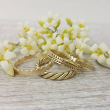 Unique wedding band for women, Leaves and berries wedding band, Gold wedding ring for women, 14k gold wedding band, gold leaves band