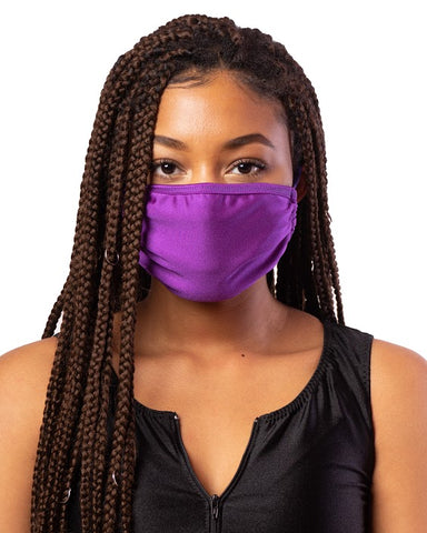 Purple Cloth Face Mask w/ Filter Pocket