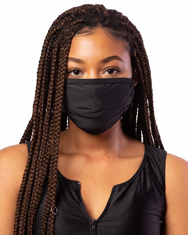 Black Cloth Face Mask w/ Filter Pocket