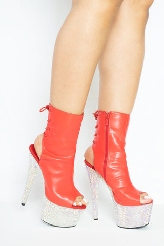 Red Diamonds ankle boot *PRE-ORDER* - The Beauty Cave Boutique