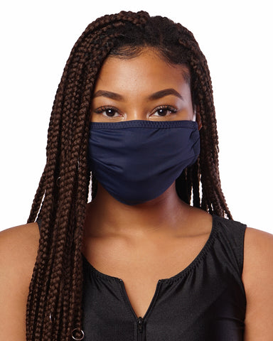 Navy Cloth Face Mask w/ Filter Pocket