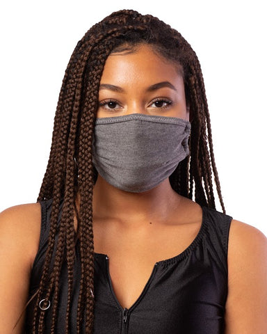 Grey Cloth Face Mask w/ Filter Pocket