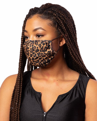 Cheetah Cloth Face Mask w/ Filter Pocket